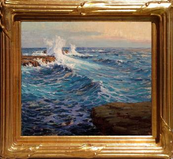 "Granville Redmond, ""The Mighty Deep, 1918"", 24 x 28 inches, oil on canvas. Available!"