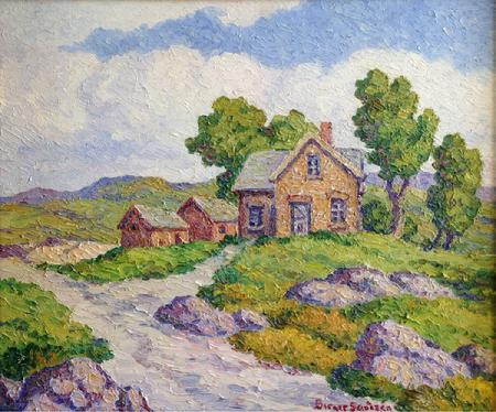"Birger Sandzen ""Once a Home"" 20 x 24 inches, excellent condition! AVAILABLE"